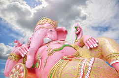Ganesha Herre av framgång i Thailand Arkivbilder