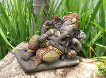 Ganesha hindu god. Sculpture in the garden, symbol of luck and prosperity Stock Photography
