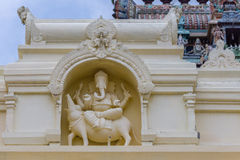 Ganesha on his rat at Pillayarpatti Karpaga Vinayagar temple. Royalty Free Stock Image