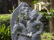 Ganesha on the horse statue Royalty Free Stock Photos