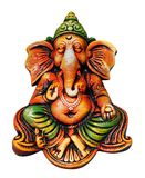 Ganesha Idol getrennt auf Weiß mit Ausschnittsschablone lizenzfreie stockbilder