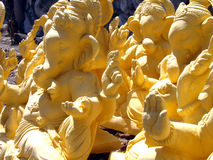 Ganesha idols drying in sun Royalty Free Stock Photography