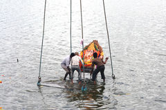 Ganesha immersion Stock Images