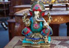 Ganesha Indiański bóg mądrość, pamiątkarska figurka zdjęcie stock