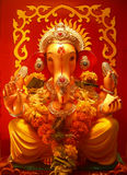 Ganesha. The Indian God Ganesha on a decorative background Stock Image