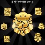 Ganesha indiano del dio, idolo di Ganesh illustrazione vettoriale