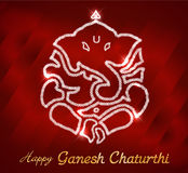 Ganesha indio de dios, tarjeta feliz del chaturthi del ganesh fotografía de archivo libre de regalías