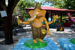 Ganesha Lord der Erfolgs-Statue bei Wat Bang Chak Lizenzfreie Stockbilder