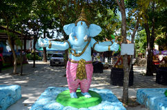 Ganesha Lord der Erfolgs-Statue bei Wat Bang Chak Stockfotos