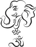Ganesha The Lord Of Wisdom. Vector Art Royalty Free Stock Photography