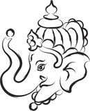 Ganesha The Lord Of Wisdom. Vector Art Stock Photos