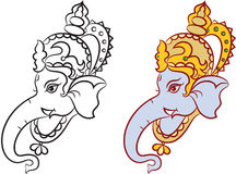 Ganesha The Lord Of Wisdom. Vector Art Royalty Free Stock Image
