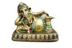 Ganesha mässingsstaty Royaltyfri Fotografi
