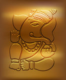 Ganesha - Metallic Golden Design Stock Images
