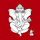Ganesha and mouse Stock Photos