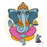 Ganesha and mouse Stock Photography
