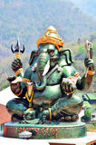 Ganesha o Ganesh a Wat Khanon Nang Yai in Ratcha Buri Tailandia Fotografie Stock Libere da Diritti
