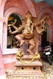 ganesha Oud houten standbeeld India Stock Foto