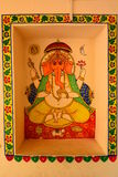 Ganesha painting. City Palace. Udaipur. Rajasthan. India Stock Images