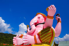 Ganesha Pink statue i Royalty Free Stock Photography