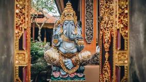 Ganesha portrait - Hindu Buddhist deities, traditional sculpture royalty free stock images