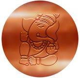 Ganesha - progettazione di rame metallica Immagini Stock Libere da Diritti