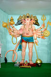 Ganesha in role of panchmukhi Hanuman Stock Image