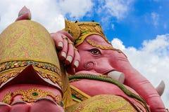 Ganesha rosado del señor en el chachoengsao Tailandia del templo del samarn Fotos de archivo libres de regalías