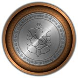 Ganesha Sign Metallic Coin Royalty Free Stock Image