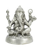 Ganesha-Silberfarbe Stockfoto