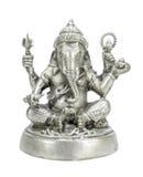 Ganesha silverfärg Arkivfoto