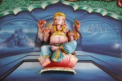 Ganesha sitting on lotus flower, India. Antique ceramic tile with Ganesha sitting on lotus flower, India Stock Images