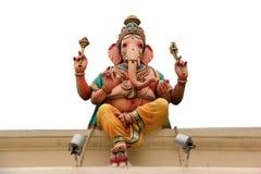 Статуя Ganesha на виске Sri Mariamman, самом старом индусском tem Стоковые Фотографии RF