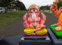 Ganesha Statue阁下美妙的姿势  库存图片
