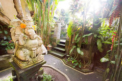 Ganesha statue in a Bali home garden Royalty Free Stock Image