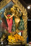 Ganesha statue in in Bangkok Thailand. At Hauikhwang junction royalty free stock photo