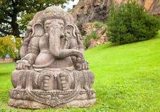 Ganesha statue in a beautiful mountain garden royalty free stock photography