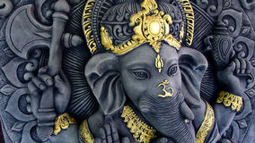 Ganesha Statue. The Ganesha Statue Blessing Hand Royalty Free Stock Photos