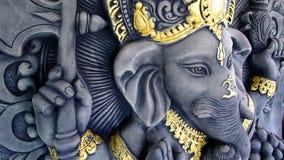 Ganesha Statue. The Ganesha Statue Blessing Hand Royalty Free Stock Photo