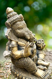 Ganesha Statue on Green Background Royalty Free Stock Images