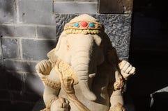 Ganesha statue - Hinduist religion. Old Town of Lijiang, Yunnan, China Royalty Free Stock Images