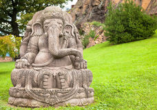 Ganesha Statue In A Beautiful Mountain Garden Royalty Free Stock Photography