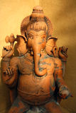 Ganesha statue indian terracotta art. Detail of Ganesha statue, indian terracotta art royalty free stock images