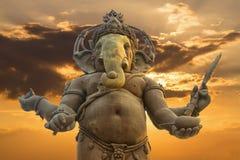 Ganesha, statue indoue de Dieu image libre de droits