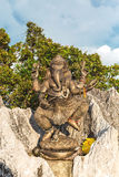Ganesha statue at Tiger cave temple, Krabi Royalty Free Stock Images
