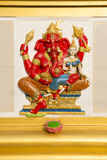 Ganesha staty och hinduisk gud Royaltyfria Bilder
