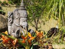 Ganesha tillbad den indiska guden många århundraden sedan royaltyfri fotografi
