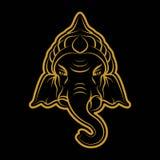 Ganesha vector Stock Image