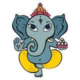 Ganesha vom Stein lizenzfreie abbildung