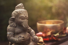 Ganeshadeity steenstandbeeld Stock Fotografie